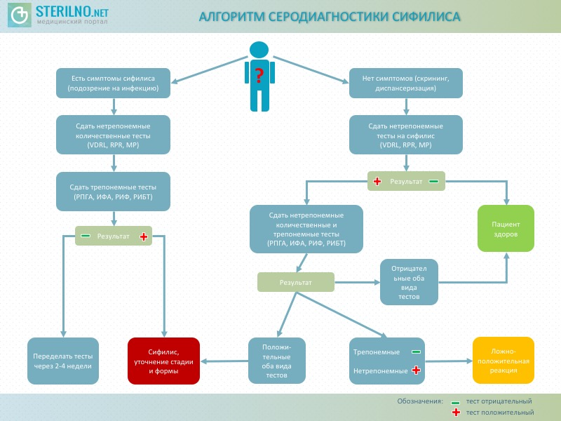 Алгоритм серодиагностики сифилиса