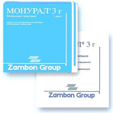 Монурал (фосфомицина трометамол) при цистите и бессимптомной бактериурии