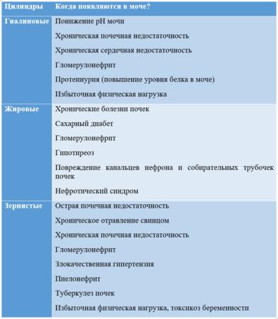 Цилиндры в анализе мочи по Нечипоренко