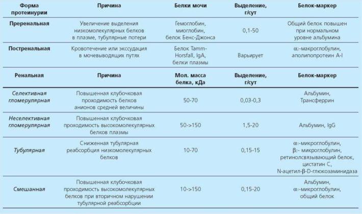 Причины протеинурии