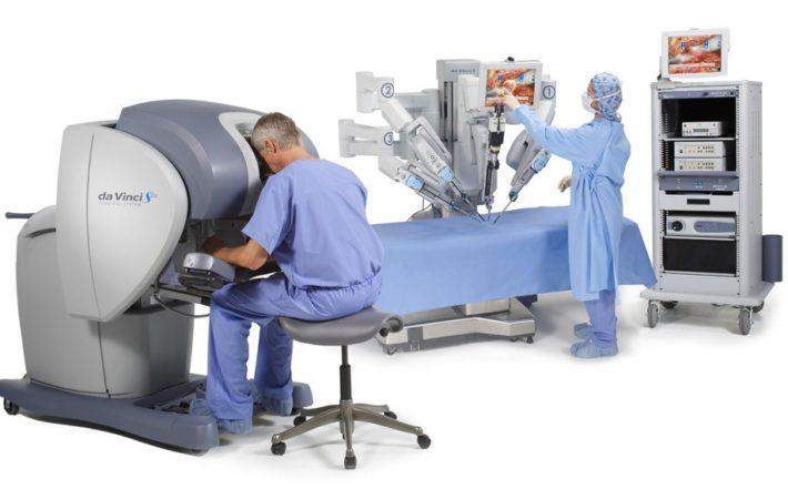 Использование хирургической системы Da Vinci
